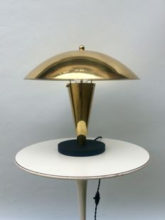 Art Deco gilt mushroom lamp  - Metal base.