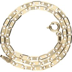 14 kt – Yellow gold curb link necklace – Length: 24.5 cm