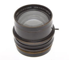 Rhaco old brass lens 265mm F:6.3 Doppel Anastigmat with iris diaphragm