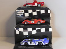 Minichamps - Scale 1/43 - Lot with 3 classic  sports car models: Alfa Romeo, Ford & Porsche