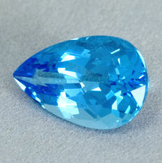 Swiss Blue Topaz - 10.13 ct, No Reserve Price
