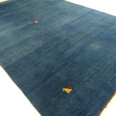"Large Gabbeh - 360 x 247 cm - ""royal blue Oriental rug in good condition"" - with certificate"