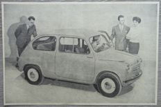 Fiat 600 - Lot of 25 Advertisements from 1955 to 1968