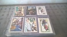 Lot with 450 fantasy cards from France, Germany and Belgium. Christmas and travel theme