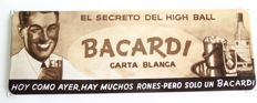 Rare unique enamel advertising sign for Bacardi from the 1980s