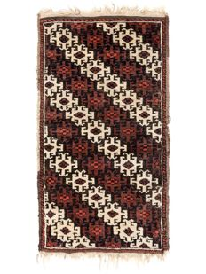 Hand-knotted Baluch-Balisht from Iran, In good condition, Around 1900, 84 x 46 cm. ( 33.0 x 18.1 inches )