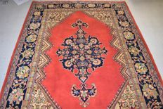 Oriental rug, Kashan. 20th century, around 1970 - 220 x 155 cm - with certificate of authenticity.