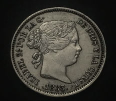 Spain - Isabel II - 1 silver real year 1863 - Mint of Seville