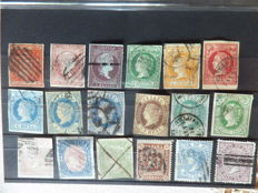 Spain 1854–1920 - Lot of stamps on sheets