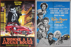 Lott of 2 movie posters: L'homme à la Jaguar rouge / La Rolls-Royce jaune - 1964 & 1968