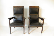 H.P. Berlage - A pair of New Art armchairs
