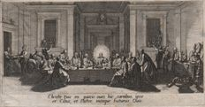 Jacques Callot ( 1592-1632 ) - The Last supper - First state before any publishers address - 1619/24