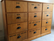Large Wooden Apothecary drawers, 1.7 metres wide