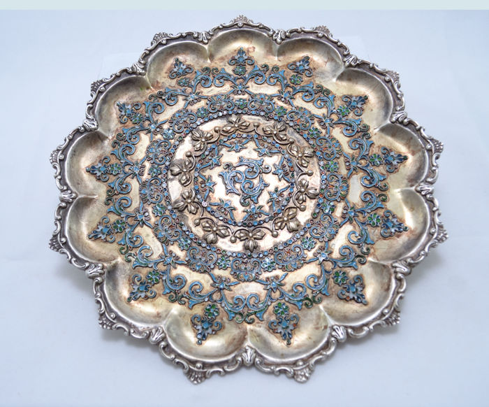 Tray for Sweets - Silver - Russia - 19th century (1800-1900)