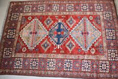 Magnificent Afghan Kazakh - 215 x 150 cm - mint condition, with certificate of authenticity