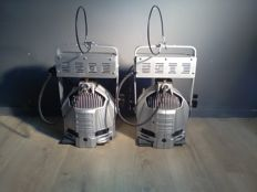 Pair of gallery/stage/theatre/industrial-spots/lamps - aluminium