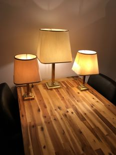 Free Light - Set of two small and one large table lamp
