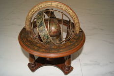 Globe in wooden frame - Mercurio d'Oro, mid-20th century