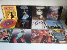 Lot with 12 favourite original sound track albums: Jesus Christ Superstar (with rare Discofoon press) / Fame (picture disc) / Dirty  Dancing /  Footloose / Grease / the Stud / Godspell / Saturday Night Fever / Hair / 16 lp's in total