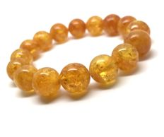 Bracelet of natural Baltic Amber beads 14 mm in diameter, no reserve, 23.8 grams