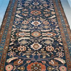 Magnificent antique Hamadan Persian carpet, around 1920 - 207 x  137 - collector's item