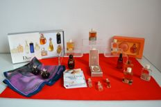Christian Dior - collection of rare and antique or modern bottle,