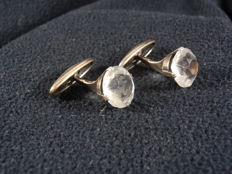 Old silver cuff links, made in 1958