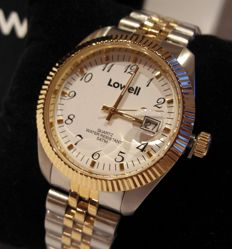 LOWELL - DAY DATE in 18 kt gold-laminated steel - NEW - Unisex