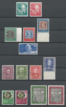 Federal Republic of Germany 1949-1951 - selection between Michel 111 and 142
