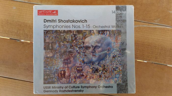 Dmitri Shostakovich: Symphonies Nos. 1-15 - Orchestral Works (Box Set) 14 CD Sealed and never played
