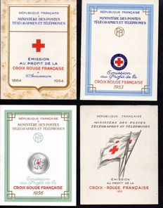 France 1953/1959 – selection of 7 Red Cross booklets – Yvert between no. 2002 and 2008.