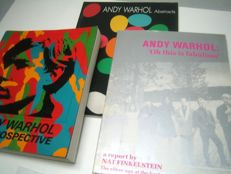 Andy Warhol - Lot of 3 books on Andy Warhol - 1989/1993