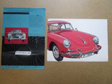 Porsche - Lot of 2 brochures for Porsche 356 and 356 B -1955 & 1959