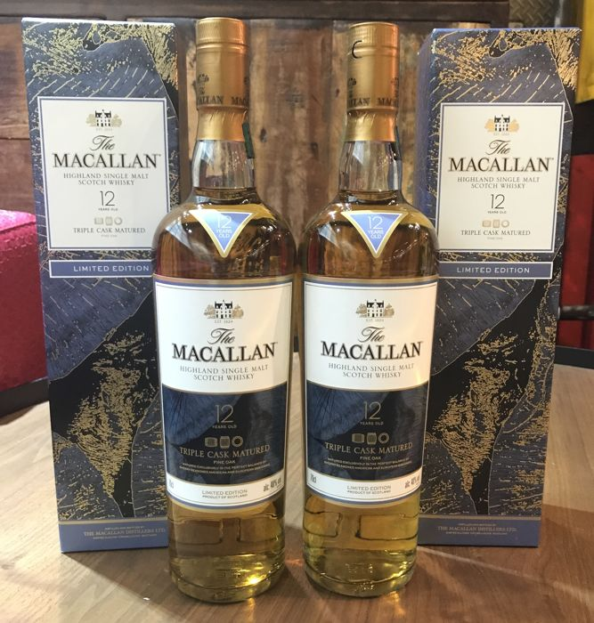 Macallan 12 Fine Oak Limited Edition Set of 2 Bottles