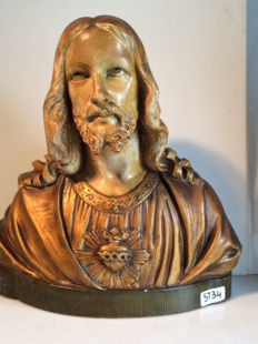 Christ Statue – signed: G. Parentani – earthenware