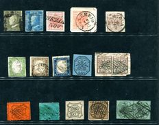 Historic States of Italy - Lot of 17 stamps