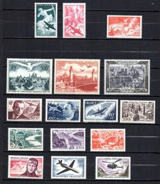 France 1946/1959 – Selection of Airmail – Yvert between Airmail no. 16 and 37.