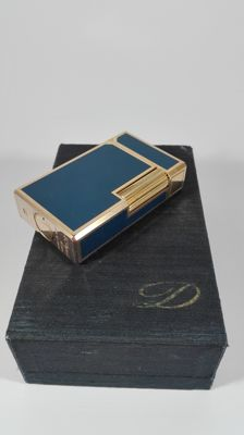 S.T. Lighter Dupont in blue china lacquer