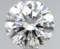 Round Brilliant Diamond 0.53 Carat , D IF 3EX,   Cert: GIA  #SS209 -original image