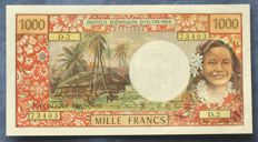 Tahiti – 1,000  Francs ND (1971) - Pick 27a