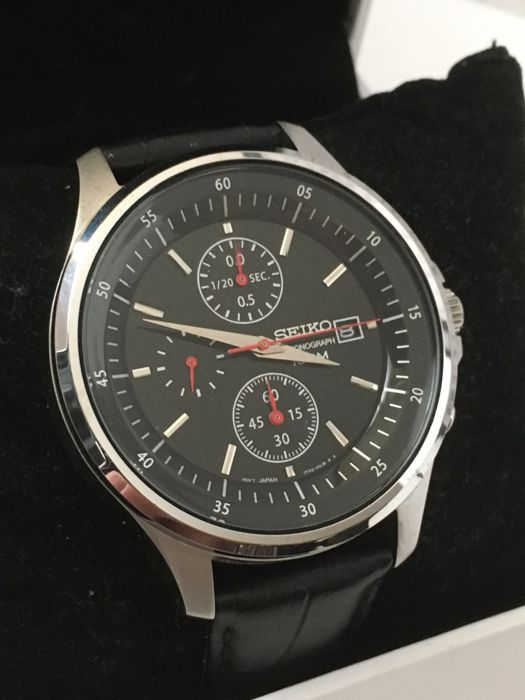 "Seiko ""Chronograph"" – men's wristwatch – 2017 -- unworn, in mint condition."