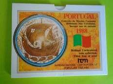 Portugal – Oeiras  folder escudos  BNC series 1988 – the rarest