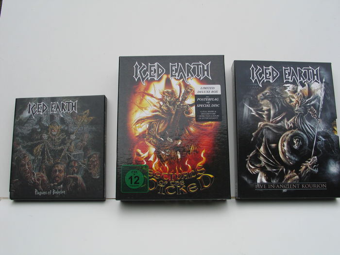 Iced Earth - 3 boxes  with one limited box and extra souvenirs.