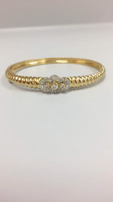 14kt yellow gold bangles's bracelet with 0.50 diamond - no reserve