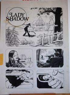 "Mandrafina, Roberto Domingo - original plate ""Lady Shadow"" for LancioStory"