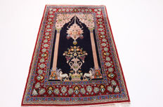 Fine Persian carpet, Qom, 1.75 x 1.09, hand-knotted, high quality new wool with silk, Orient carpet, TOP CONDITION