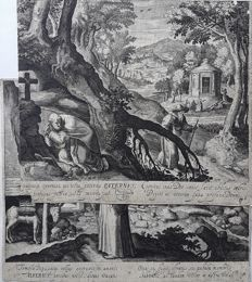 Maerten de Vos (1532 - 1603)  - Lives of the Hermits - 16th/17th century
