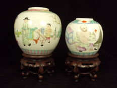 2 finely painted ginger jars - China - late 19th/early 20th century