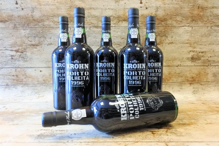 1996 Colheita Port Krohn - bottled in 2016 - 6 bottles