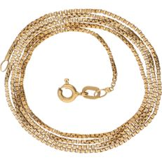 18 kt yellow-gold Venetian-link necklace - length: 53.7 cm